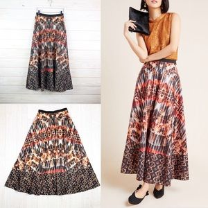 Anthropologie Kaleidoscope Maxi Skirt Abstract New